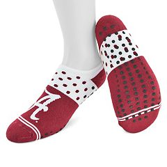 Women's Mojo Alabama Crimson Tide Speckled No-Show Grip Socks