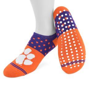 Women's Mojo Clemson Tigers Speckled No-Show Grip Socks