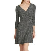 Petite Chaps Dot-Print Jersey Fit & Flare Dress