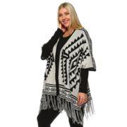 Plus Size White Mark Aztec-Print Cardigan