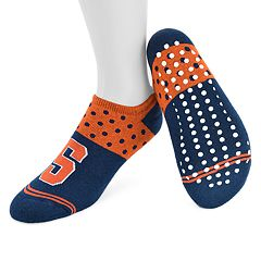 Women's Mojo Syracuse Orange Speckled No-Show Grip Socks