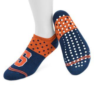 Women's Mojo Syracuse Orange Speckled No-Show Grip Socks