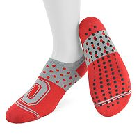 Women's Mojo Ohio State Buckeyes Speckled No-Show Grip Socks