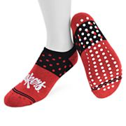 Women's Mojo Nebraska Cornhuskers Speckled No-Show Grip Socks