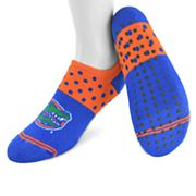 Women's Mojo Florida Gators Speckled No-Show Grip Socks