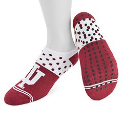 Women's Mojo Indiana Hoosiers Speckled No-Show Grip Socks