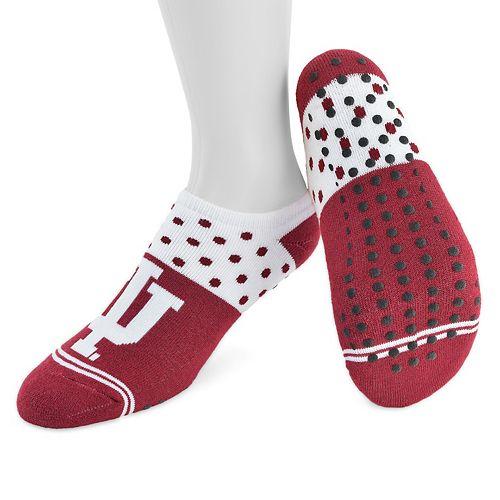 Women's Mojo Indiana Hoosiers Speckled No-Show Grip Socks