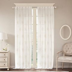 Bombay 1-Panel Massa Embroidered Sheer Window Curtain