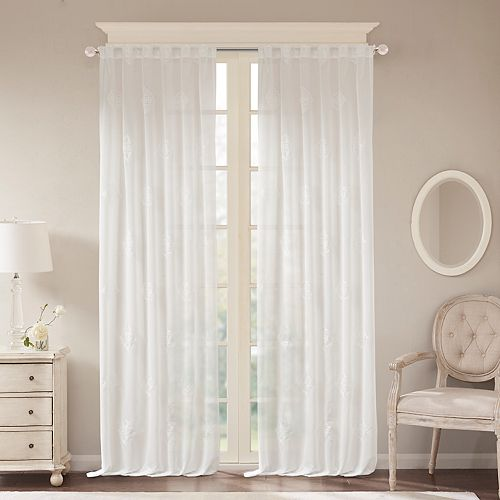 Bombay Massa Embroidered Sheer Window Curtain