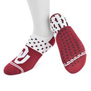 Women's Mojo Oklahoma Sooners Speckled No-Show Grip Socks