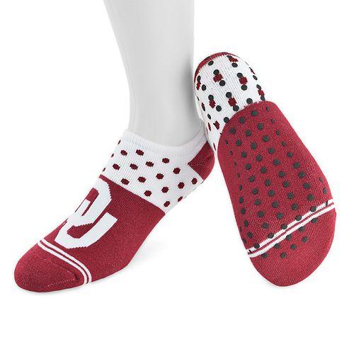 Women's Mojo Oklahoma Sooners Speckled No-Show Grip Socks