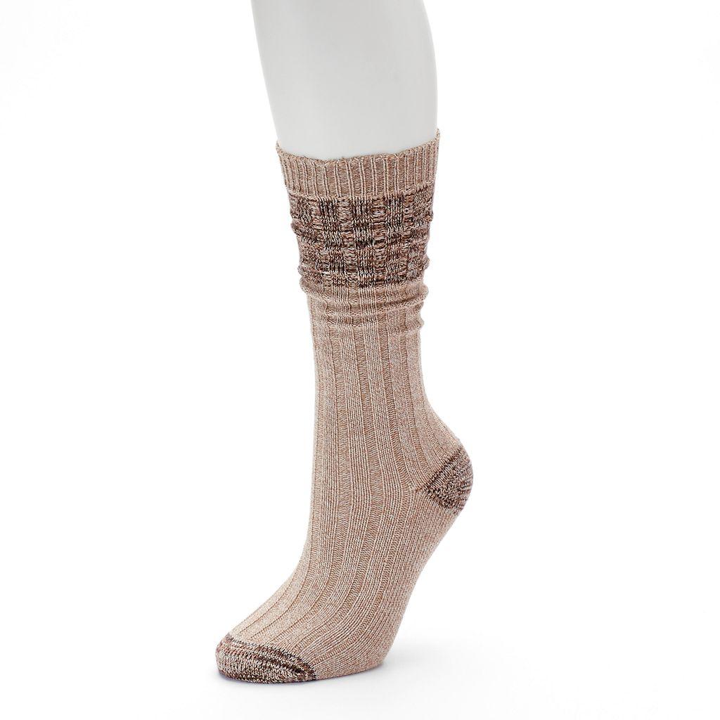 Women's SONOMA Goods for Life™ Ribbed Boyfriend Crew Socks