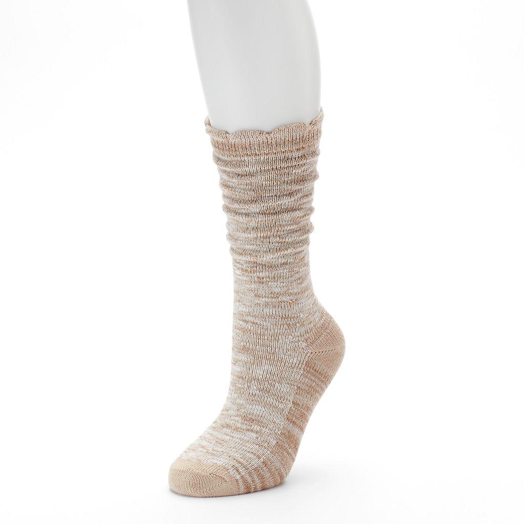 Women's SONOMA Goods for Life™ Slubbed Scalloped Crew Socks
