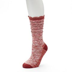 Women's SONOMA Goods for Life™ Slubbed Scalloped Crew Socks