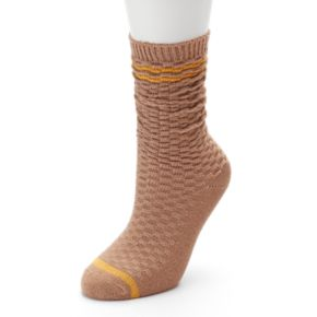 Women's SONOMA Goods for Life™ Wavy Texture Boyfriend Crew Socks