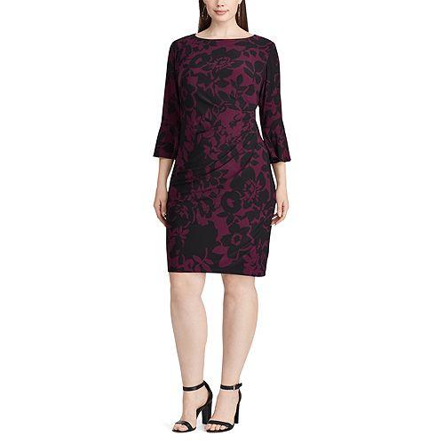 Plus Size Chaps Jersey Bell-Sleeve Sheath Dress