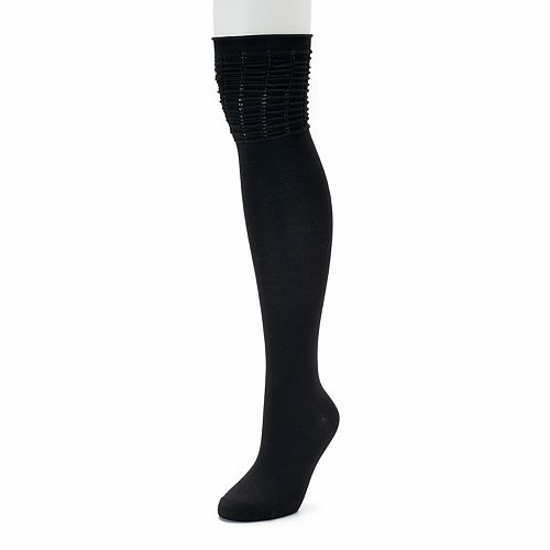 Women's SONOMA Goods for Life™ Ruched Top Over-the-Knee Socks