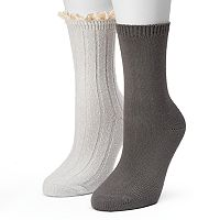 Women's SONOMA Goods for Life™ 2-pk. Ribbed Lacy Boot Socks