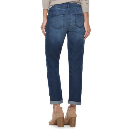 Women's Jennifer Lopez Cuffed Straight-Leg Ankle Jeans