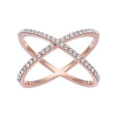Brilliance X Ring with Swarovski Crystals