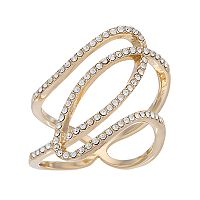Brilliance Openwork Ring with Swarovski Crystals