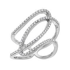 Brilliance Openwork Ring with Swarovski Crystals