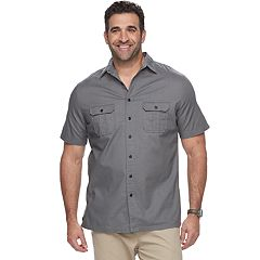 Big & Tall Croft & Barrow® Regular-Fit Crosshatch Button-Down Shirt