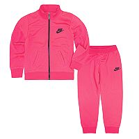 Girls 4-6x Nike Futura Pink Jacket & Pants Track Suit Set