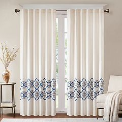 Bombay 1-Panel Minae Border Embroidered Window Curtain