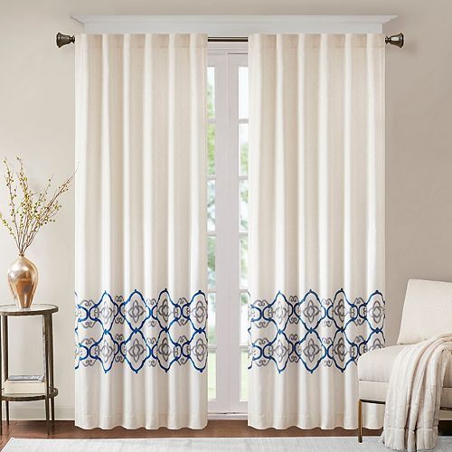 Bombay Minae Border Embroidered Window Curtain