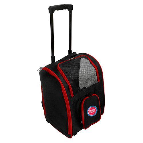 Mojo Detroit Pistons Wheeled Pet Carrier
