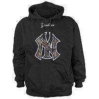 Men's New York Yankees Logo Pullover Fleece Hoodie