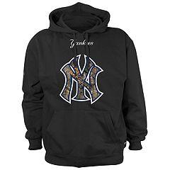Men's New York Yankees Logo Pullover Fleece Hoodie