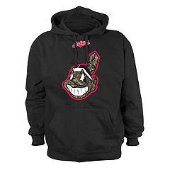 Men's Stitches Cleveland Indians Camo Logo Hoodie