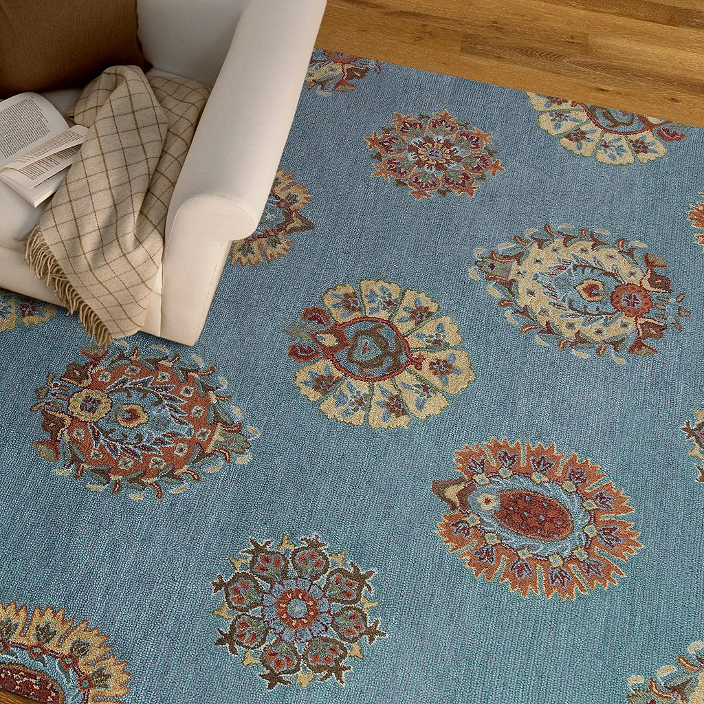 Kaleen Brooklyn Damask Wool Rug