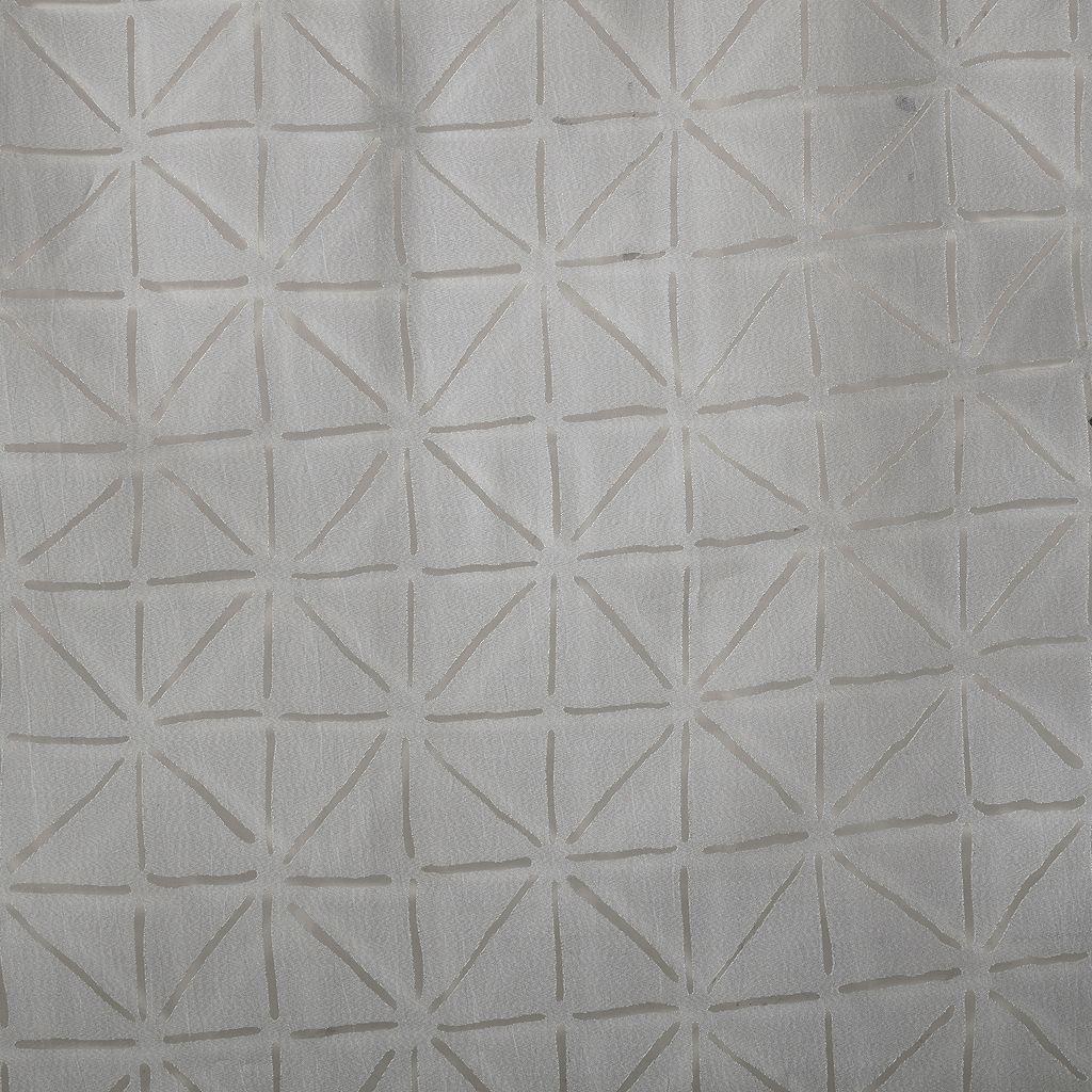 Madison Park Vera Geometric Burnout Sheer Window Curtain