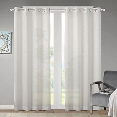 Madison Park Vera Geometric Burnout Sheer Window Curtain
