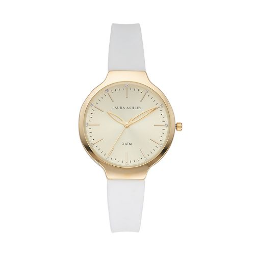 Laura Ashley Women's Crystal Accent Watch