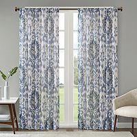 Madison Park Nadine Slub Printed Curtain