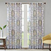 Madison Park Nadine Slub Printed Window Curtain