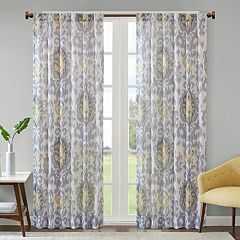 Madison Park Nadine Slub Printed Window Curtain