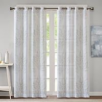 Madison Park Elder Burnout Sheer Curtain