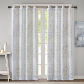 Madison Park 1-Panel Elder Burnout Sheer Window Curtain