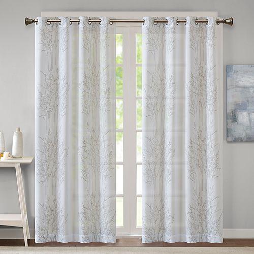 Madison Park Elder Burnout Sheer Window Curtain
