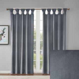 Madison Park London Printed Velvet Twisted Top Window Curtain
