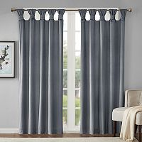 Madison Park London Printed Velvet Twisted Top Curtain