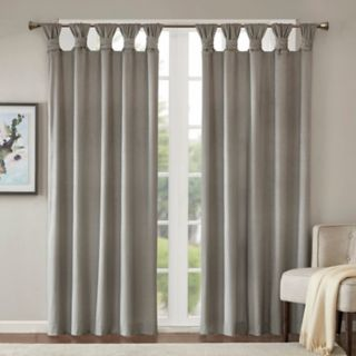 Madison Park 1-Panel London Printed Velvet Twisted Top Window Curtain
