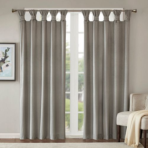 Madison Park 1-Panel London Printed Velvet Twisted Top Window Curtain