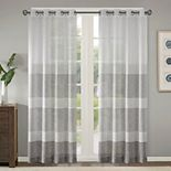Madison Park 1-Panel Jasper Woven Striped Sheer Window Curtain