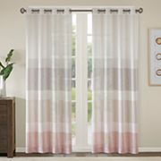 Madison Park Jasper Woven Striped Sheer Window Curtain